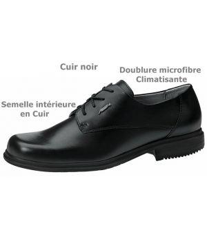 Chaussures Homme, Cuir Noir, Doublure climatisante, Semelle intérieure Cuir,