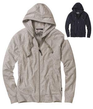 Veste à capuche, Fermeture à glissière, Poche kangourou, Poignets et ourlet côtelés