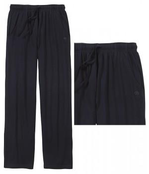 pantalon d 39 int rieur ou de pyjama marine poches lat rales taille lastiqu e. Black Bedroom Furniture Sets. Home Design Ideas