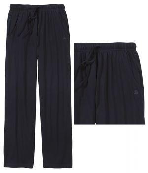 Pantalon d'intérieur ou de pyjama, Marine, Poches latérales, Taille élastiquée