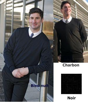 Pullover homme, Coton et acrylique, Toucher doux, Lavable en machine