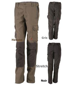 Pantalon de travail femme Adolphe Lafont, Confort du Stretch, Ceinture élastiquée