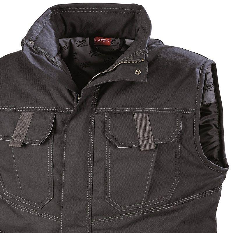 blouson de travail sans manches elki lafont style sportswear body warmer. Black Bedroom Furniture Sets. Home Design Ideas
