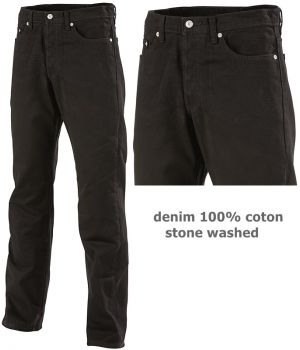 Jeans Adolphe Lafont, Denim 100% coton stone washed, Forme droite