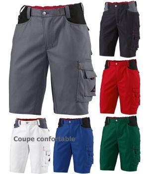 e7ec12f16b5a5 Short de travail, Taille élastiquée au dos, Tissu Canvas résistant, bicolore