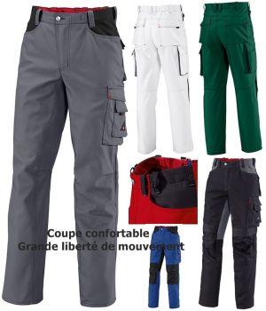 Pantalon de travail, Liberté de mouvement, Pli d'aisance au niveau des genoux