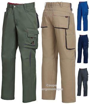 Pantalon de travail, Taille élastiquée au dos pour un ajustement optimal