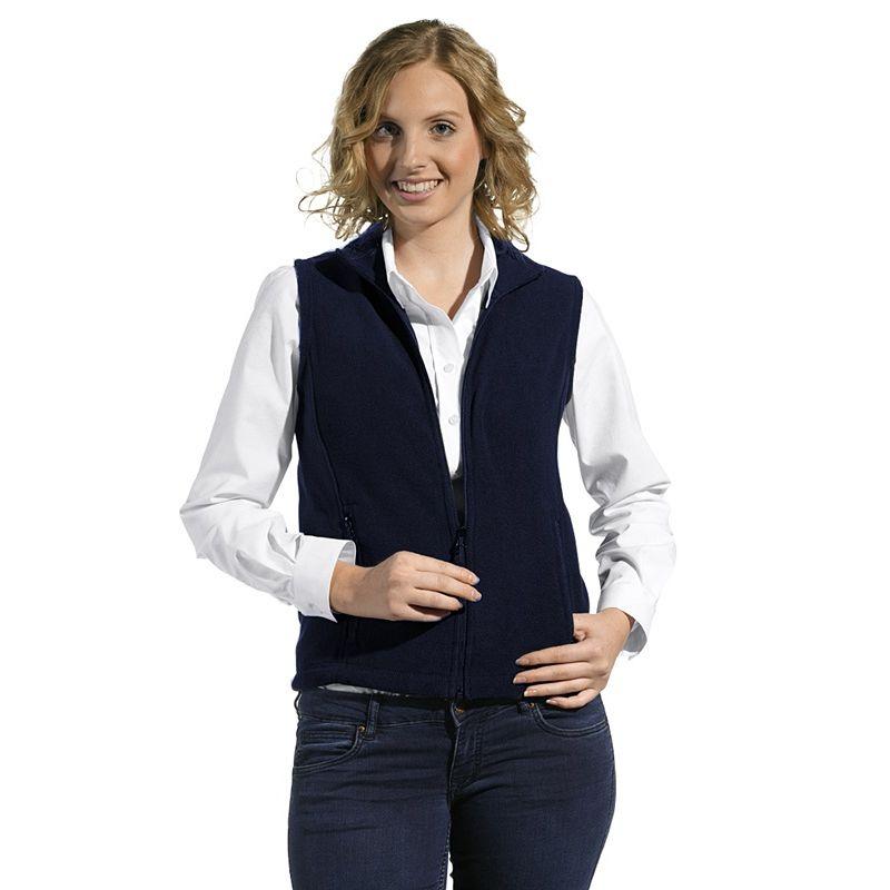 gilet polaire femme cordon de serrage 2 poches zipp es l g rement cintr. Black Bedroom Furniture Sets. Home Design Ideas