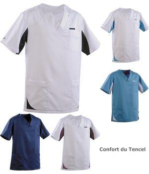 Tunique Homme Sandro, Poche poitrine, Poches côté, Confort du Tencel
