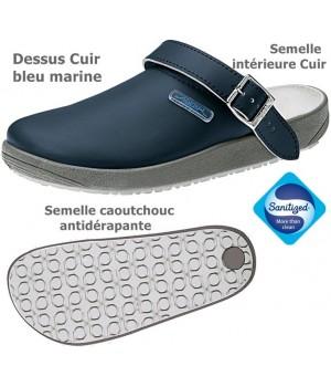 chaussures de travail, Dessus et semelle intérieure cuir, Semelle antidérapante, bleu marine