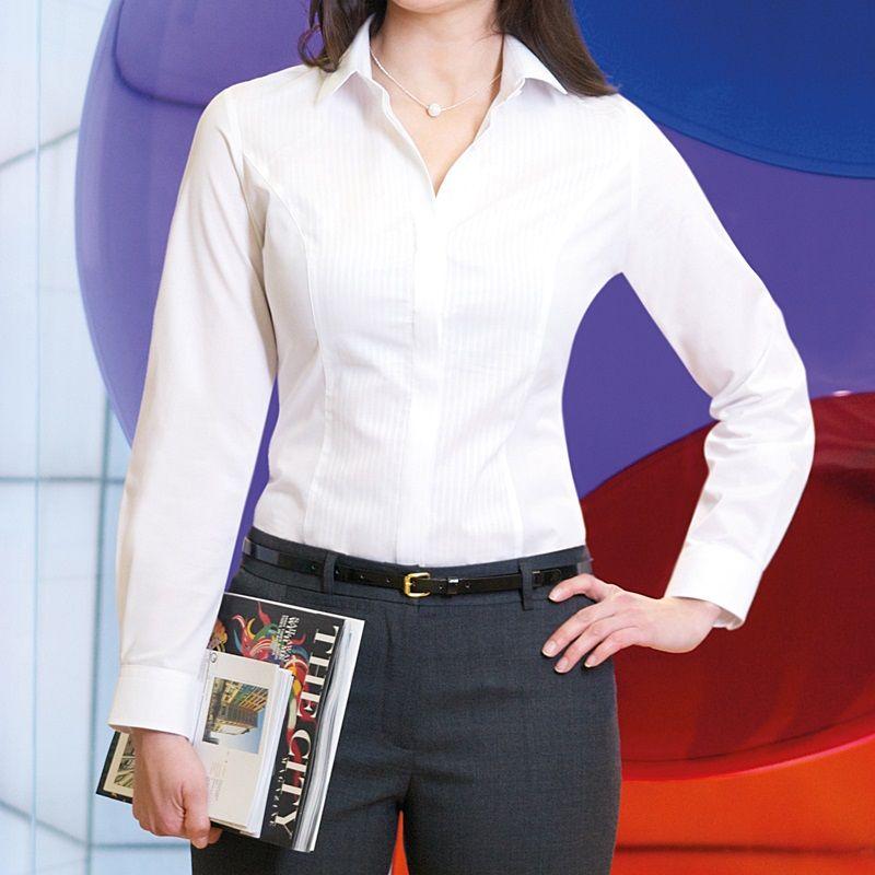 En dehors de l 39 europe mod le chemise blanc chic femme stretch for Chemisier blanc femme chic