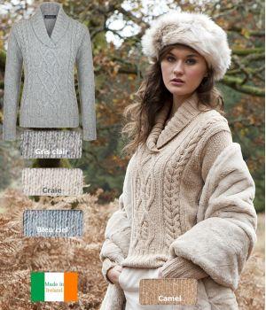 pull irlandais femme laine et cashmere chaud et doux. Black Bedroom Furniture Sets. Home Design Ideas