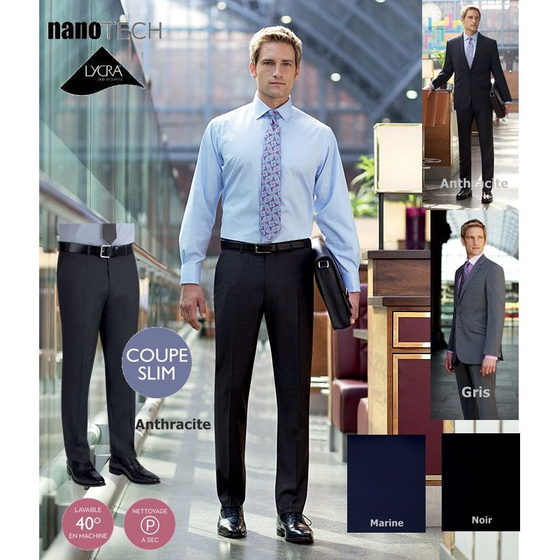 de traje ajustadosin clip2 bolsillos para delanteros Pantalones hombrescorte RLSjqc354A