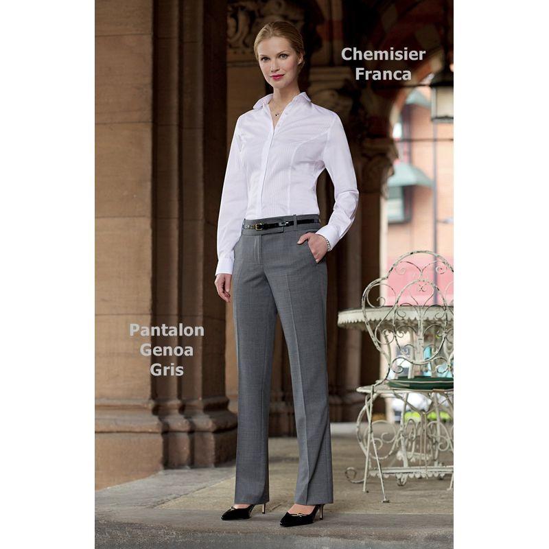 Pantalon Femme Chic Coupe Droite 2 Poches Avant