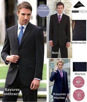 Veste homme, confortable et facile d'entretien, pour une apparence impeccable