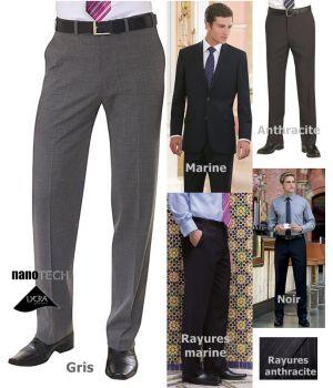 Pantalon Homme, Sans Plis, Chic et Raffiné, Tissu Performant