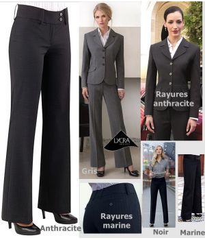 Pantalon femme taille basse, confortable et facile d'entretien, pour une apparence impeccable