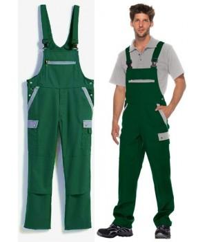 Salopette de travail bicolore, excellente tenue, entretien facile, poly-coton