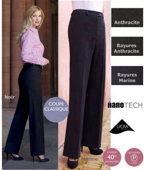 Pantalon femme taille basse, confortable et facile d'entretien