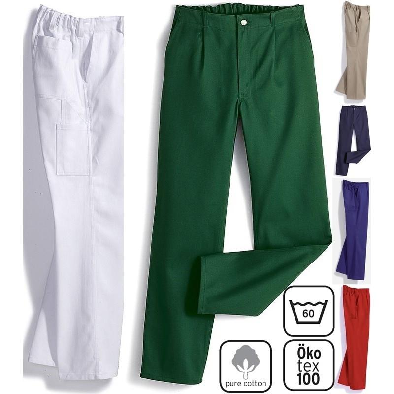 De Pantalon Dos HommeGrand Teint100CotonElastique Au Travail 5L43AjR
