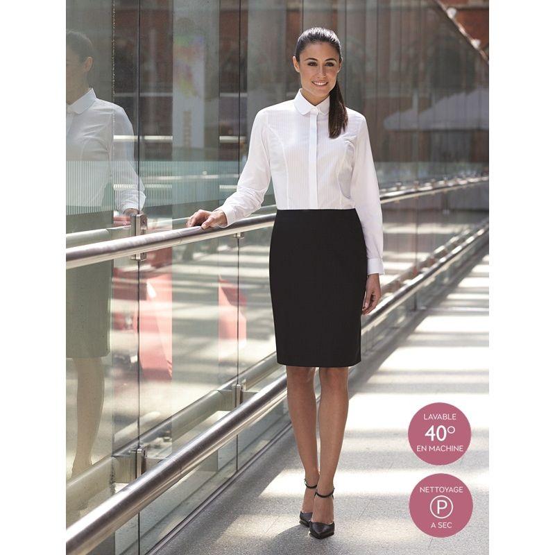 cde4af27994003 Jupe droite, Entièrement doublée, élégante, solide, moderne, 100% polyester