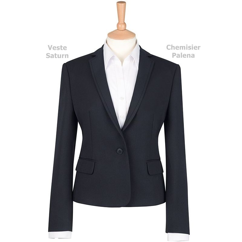 veste femme coupe ajust e 1 bouton revers troit 100 polyester. Black Bedroom Furniture Sets. Home Design Ideas