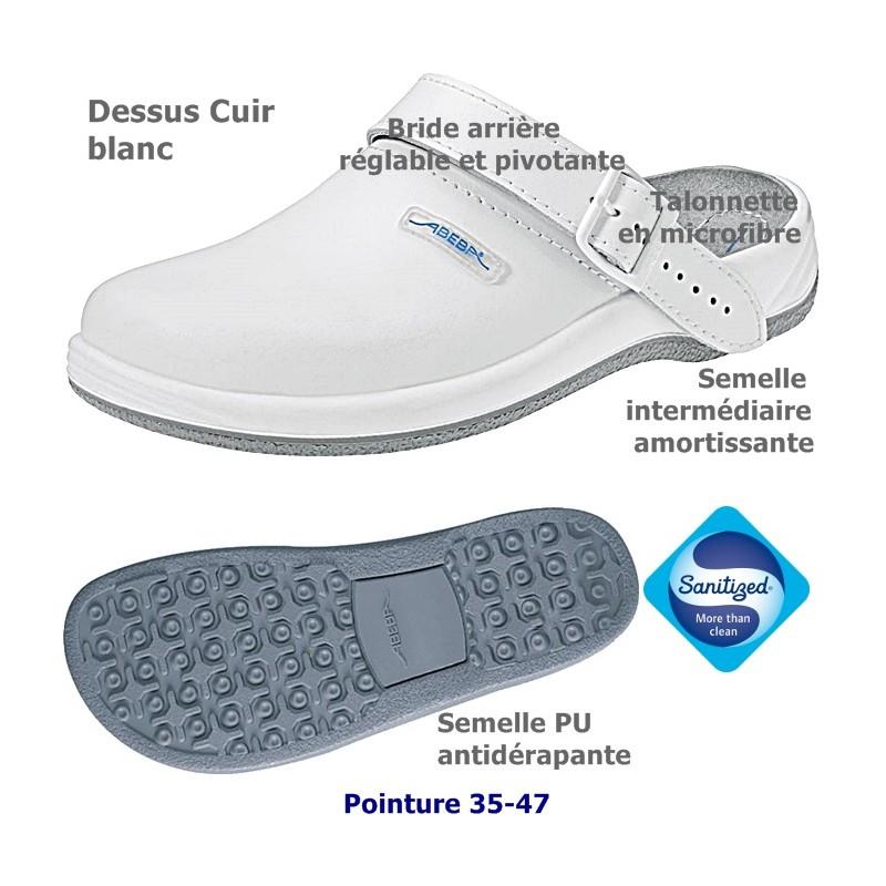 Chaussures de travail cuir antid rapantes blanc - Nettoyer chaussure cuir blanc ...