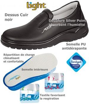 chaussures de travail, Cuir, intérieur confort, antidérapantes