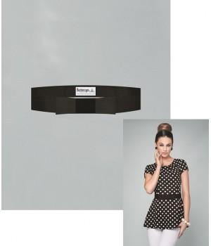 Ceinture noire pour tunique, Fermeture par Velcro