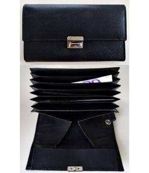 Porte monnaie cuir 7 poches à soufflets 1 compartiment monnaie