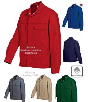 blouson travail manches longues, Garanti grand teint, 100% coton irrétrécissable