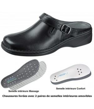 chaussures Reflexor® femme, massage confort, Cuir cousu main