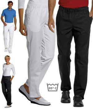 Pantalon femme et homme, Taille élastiquée, peut bouillir à 95°C