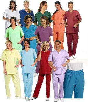 Pantalon couleur homme et femme, Adapté au lavage industriel