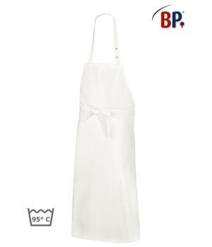 Tablier à bavette blanc en coton, serveur, restauration, paquet de 3