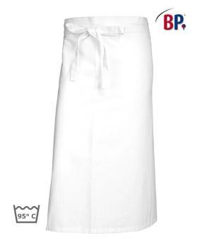 Tablier de Cuisine et Service Blanc Coton, Tablier demi-Chef, 75x100 cm