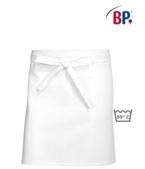 Tablier bistro blanc court, coton, chef, peut bouillir, 45x75 cm, Le pack de 3