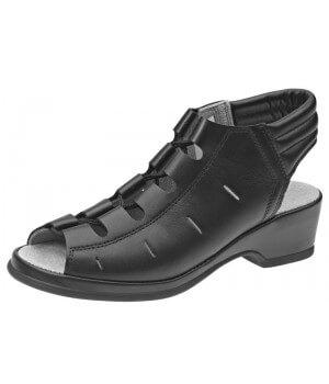 chaussures confort, Cuir, antidérapantes, Noir