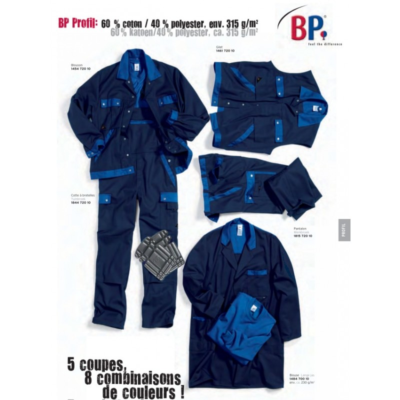 pantalon de travail bicolore excellente tenue et entretien facile. Black Bedroom Furniture Sets. Home Design Ideas