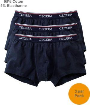 Boxer Marine, Caleçon Short-Pants, Pack de 3, 95% Coton, 5% Elasthanne