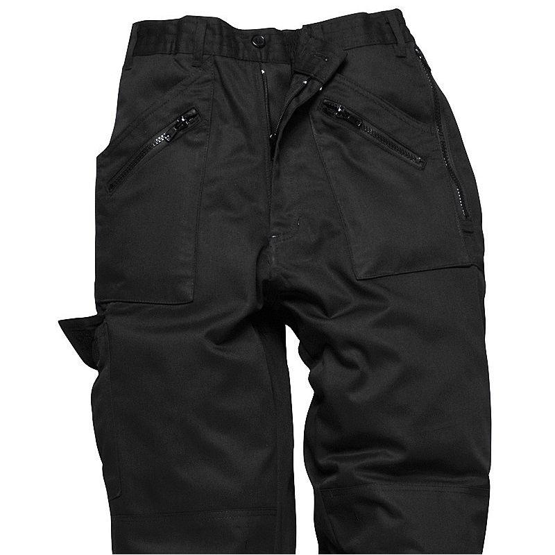 pantalon travail femme polycoton poches avec fermeture zip. Black Bedroom Furniture Sets. Home Design Ideas