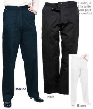 Pantalon de travail femme, élastiqué à la ceinture