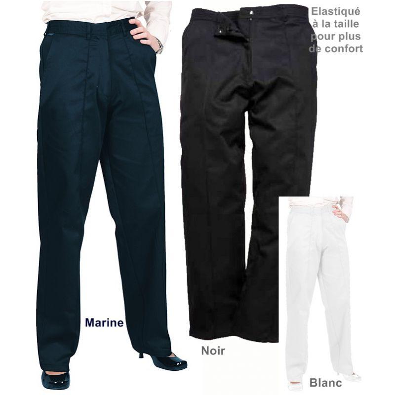 Pantalon De Travail Femme élastiqué à La Taille Confort Et Style