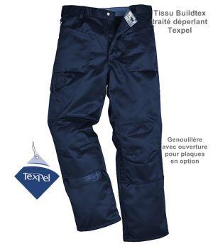 Pantalon travail homme Marine, Taille 48, traité déperlant