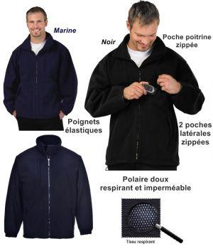 Blouson Polaire Artic respirant, Imperméabilisé et Coupe-Vent