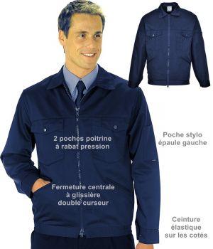 Blouson travail homme, polyester coton, Teinture de qualité