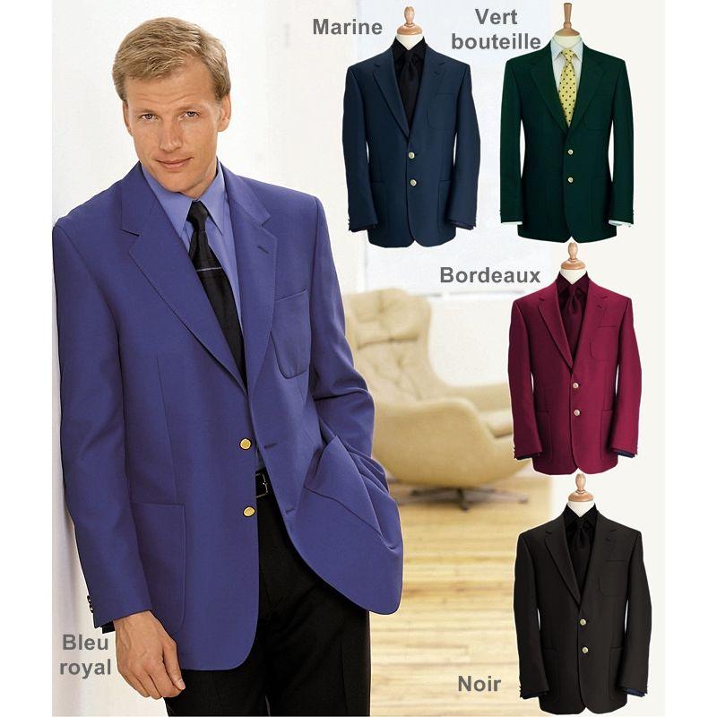 07ce71d9541c4 Blazer homme club, veste droite, Coupe classique, entièrement doublé
