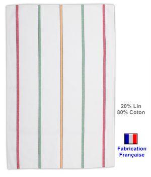 Torchons de cuisine, Fabrication Française, Coton et Lin, Le pack de 6