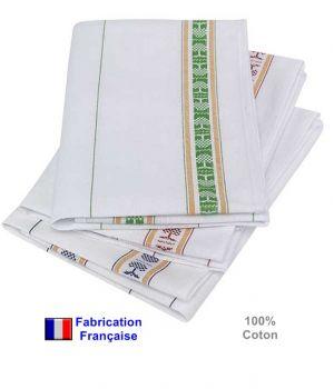 Torchons, Qualité Garantie Cholet, 100 % coton, le paquet de 6, Le pack de 6