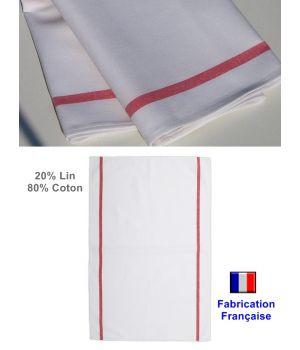 Torchons, Qualité Garantie Cholet, 80 % coton 20 % lin, Le pack de 6